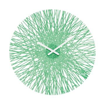 Silk Wall Clock from Koziol in mint