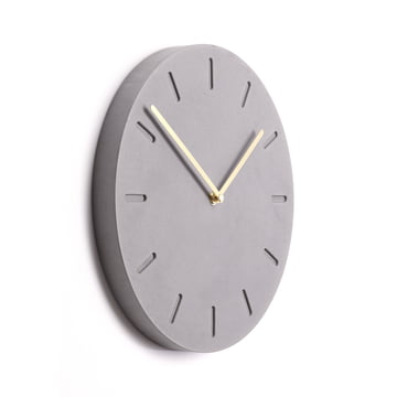 The applicata - Watch:Out Wall Clock in Brass