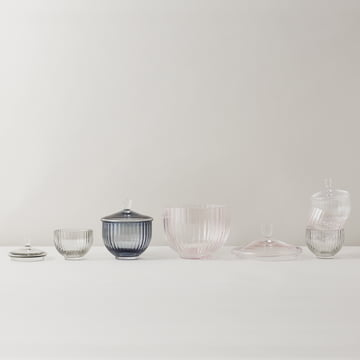 Bowl for sweets in glass in different sizes