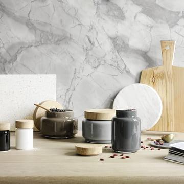 Palet Storage Jar by Holmegaard