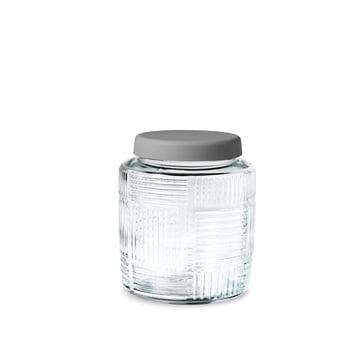 Nanna Ditzel Storage Jar 0.9 l by Rosendahl with grey lid