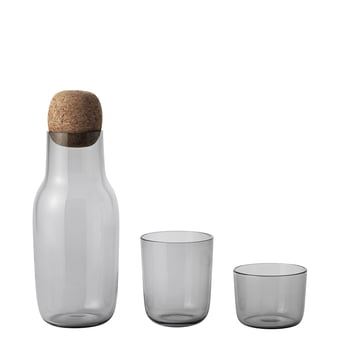 Corky Drinking Glass with Carafe, grey