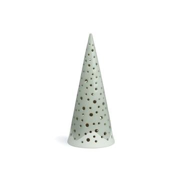 Nobili tea light holder cone 18 cm by Kähler Design in steel grey