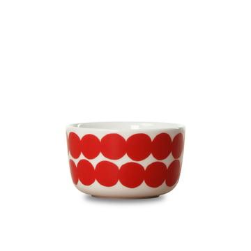 Oiva Räsymatto bowl 250 ml by Marimekko in white / red