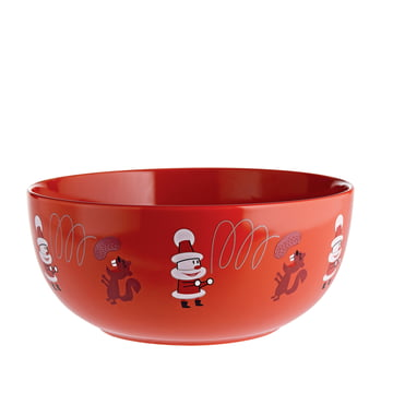 """""""Get Nuts!"""" Fruit Bowl by A di Alessi in Red"""