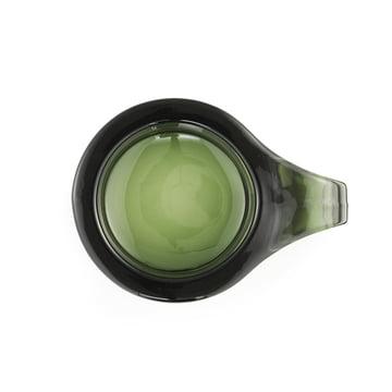 Normann Copenhagen - Floe Tealight Holder, dark green - top view