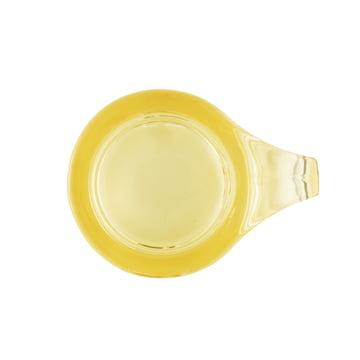 Normann Copenhagen - Floe Tealight Holder, yellow - top view
