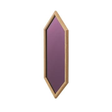 Lust Mirror 70 x 29 cm by Normann Copenhagen in Purple