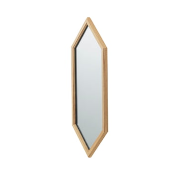 Lust Mirror 70 x 29 cm by Normann Copenhagen in Silver