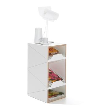 emform - Shustack shoe cabinet Three, white / white