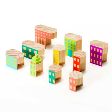 Areaware - Blockitecture, wooden architecture toy, Deco