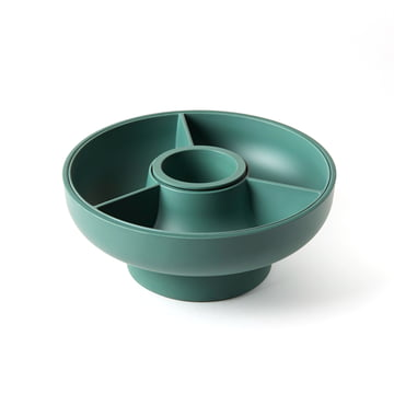 Hoop 2 serving bowl 4 pieces by Ommo in Olive