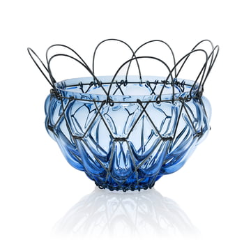 The Auerberg - Glass Basket in Blue