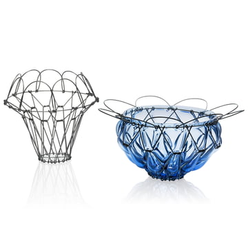The Auerberg - Wire Basket and Glass Basket in Blue