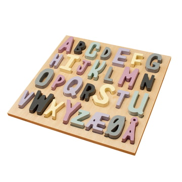 Wooden Puzzle ABC by Sebra in Shades of Pink