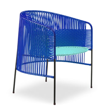ames - caribe Lounge Chair, black / mint / black