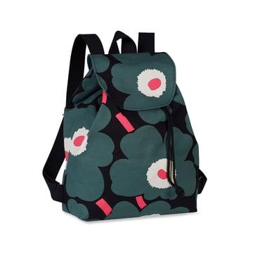 Erika Mini Unikko Backpack by Marimekko in black / grey