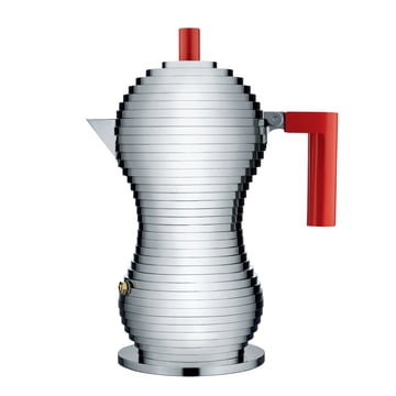 Pulcina Espresso Coffee Maker (Induction) by Alessi in red