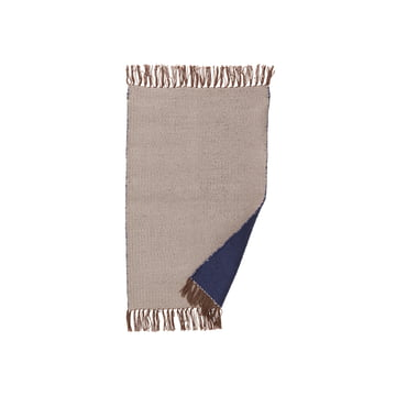 ferm Living - Nomad rug small, 60 x 90 cm, dark blue