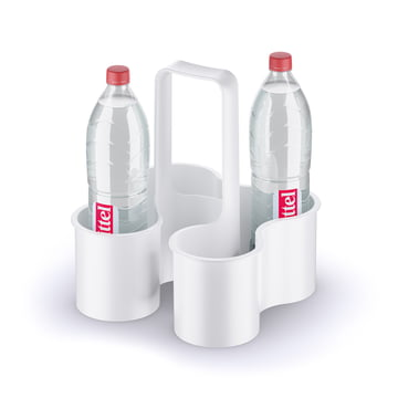 Bottle carrier with handle for 4 bottles