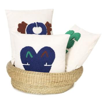 Nido cushions with the Fibra basket by ames