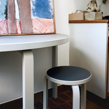 Stool 60 and table 95 by Artek