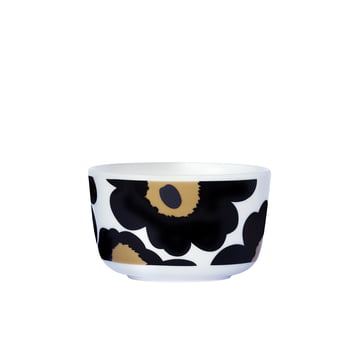 Marimekko - Oiva Unikko Bowl 250 ml, black / white