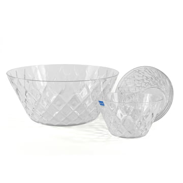 Set of 5 crystal bowls by Koziol in clear