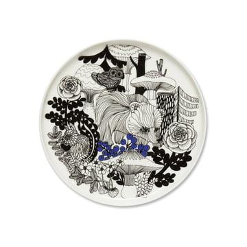 Veljekset Plate Ø 20 cm by Marimekko in black / white