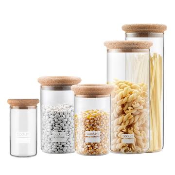 Yohki Storage Jars with Cork Lid by Bodum