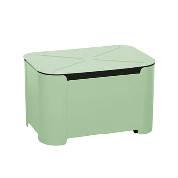 Turtle Storage Box by Tolix in Anise Matt Green