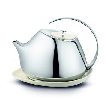Helena Teapot 1.3 l with coaster by Georg Jensen