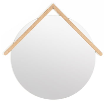 Lubin wall mirror Ø 55 cm by Hartô in natural oak