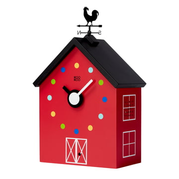 The KooKoo - RedBarn Wall Clock with Farm Animals, large