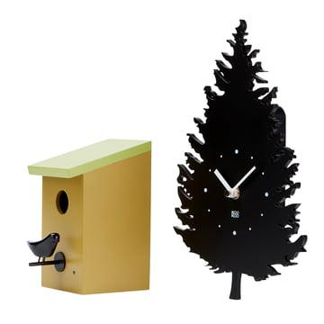The Kookoo - Bird House Wall Clock with RC Radio Quartz Movement