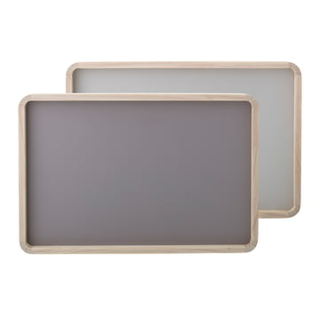 Reversible Tray by Bloomingville in Grey / Light Grey