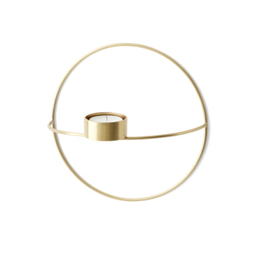 Menu - Pov Circle Tealight Holder, S in Brass