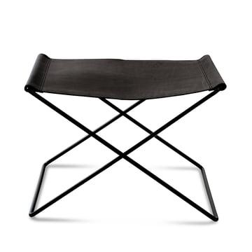 OX Stool by Ox Denmarq, Black Steel / Black Leather