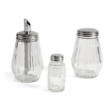 Salt Shaker, Powder Shaker and Sugar Dispenser by Hay