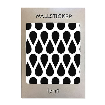 Mini Drops Wall Stickers (44 pcs) by ferm Living in Black