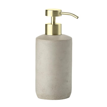 The Zone Denmark - Saxo Soap Dispenser in grey / brass