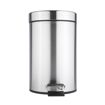 The Zone Denmark - Barcelona Pedal Bin in silver