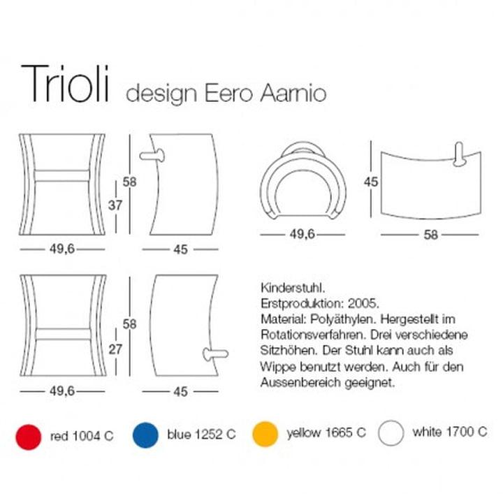 Trioli children's chair and rocker