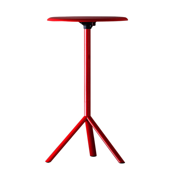 Plank - Miura Table, height 109 cm, traffic red (RAL 3020)