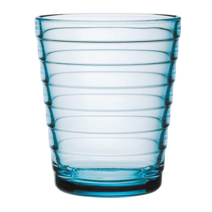 Aino Aalto Glass beaker 22 cl from Iittala in light blue