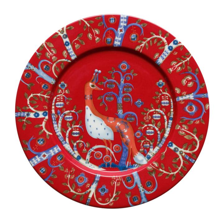 Taika red - flat plate (ø 22cm)