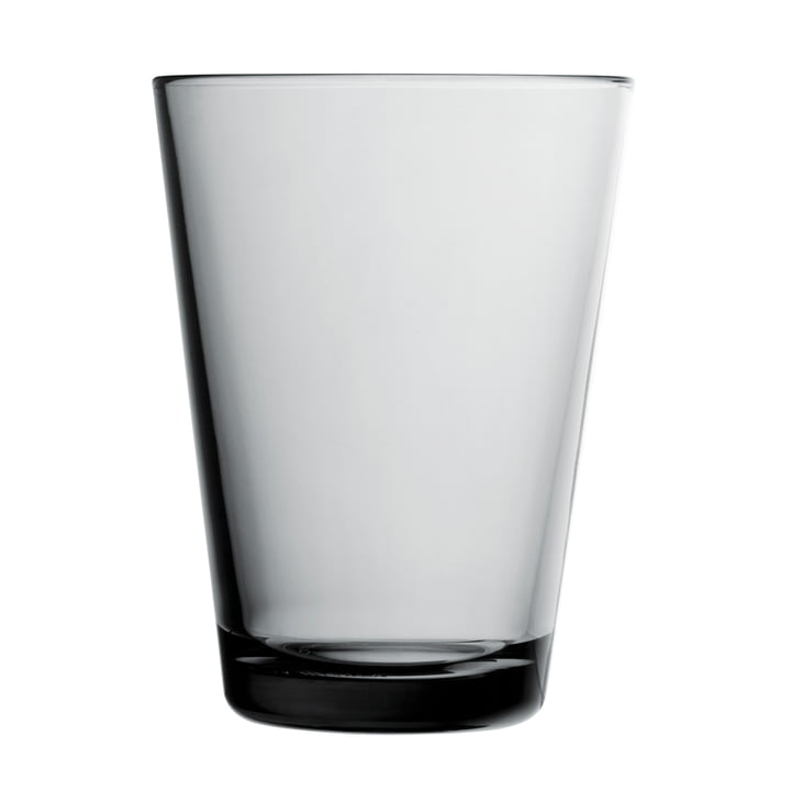 Iittala - Drinking Kartio glass 40 cl, grey