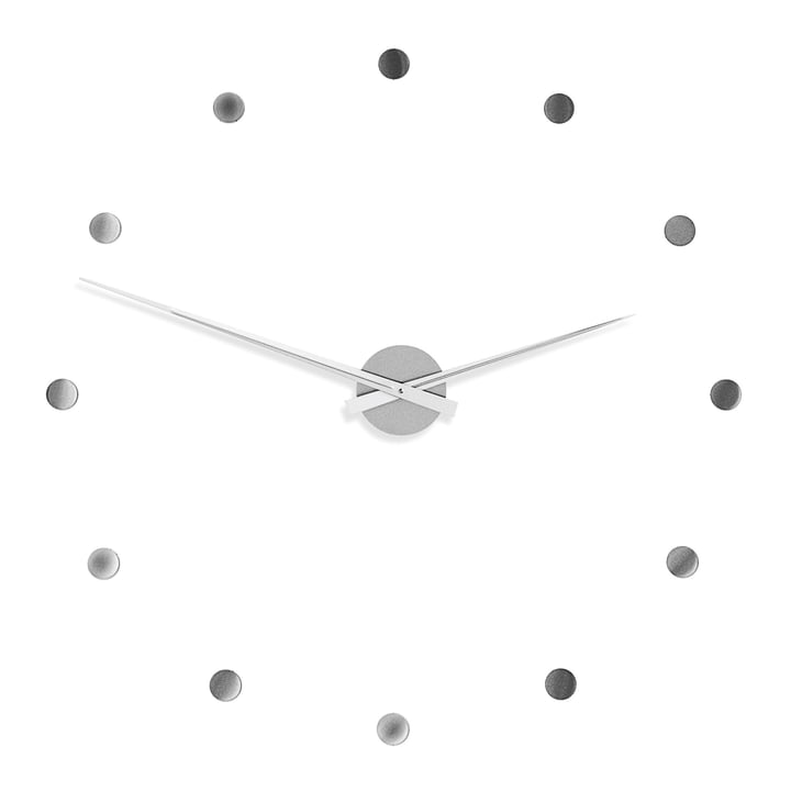 Radius Design - Flexible Wall Clock in silver