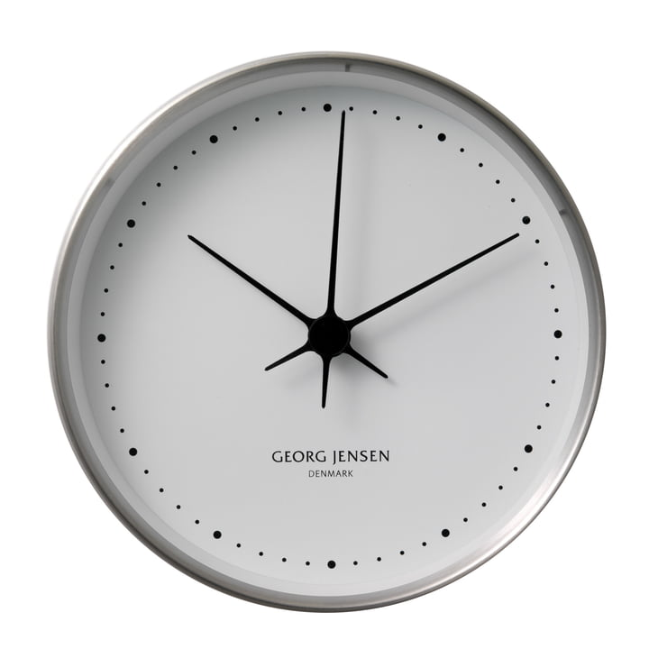 Henning Koppel wall clock ø22cm - stainless steel / white