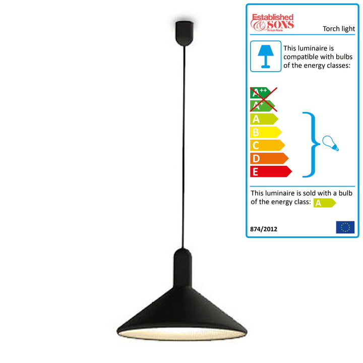 Torch Light, cone - large, black